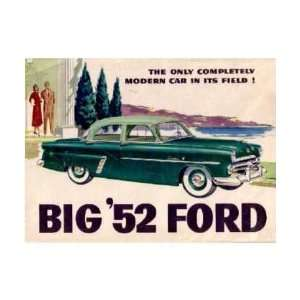 1952 FORD Sales Brochure Literature Book Piece