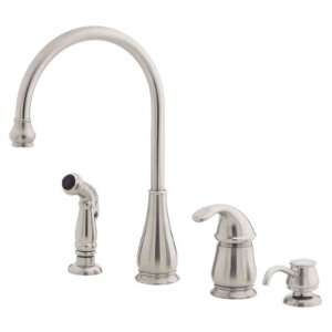Price Pfister Treviso Stainless Steel 1 Handle Kitchen Faucet w/S