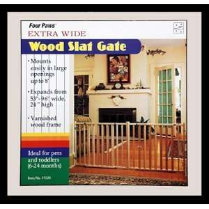 Extra Wide Wood Slat Gate, 53 x 24 Baby