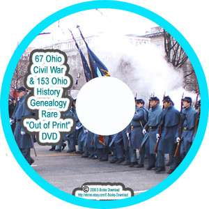 67 Ohio Civil War & 153 Ohio History Genealogy Rare Out of Print DVD