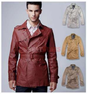 NWT 2011 Winter Fashion Men Slim Trench Coat Jacket C00