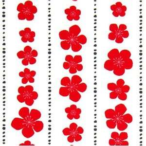 fabric red flowers blossom Robert Kaufman Arts, Crafts & Sewing