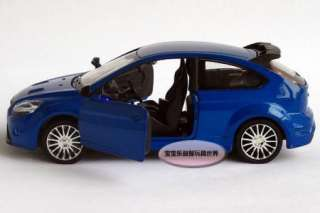 New Ford Focus RS 132 Alloy Diecast Model Car With Sound&Light Blue