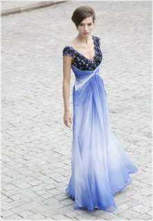 lady Beading Chiffon Prom Party Formal Gowns Long Evening Dress