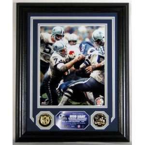 Bob Lilly Framed Dallas Cowboys Photomint with Coins