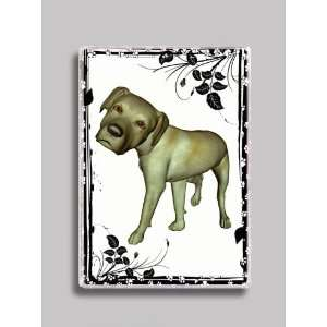 Mega Noggin Yellow Lab Dog Breed Refrigerator Magnet