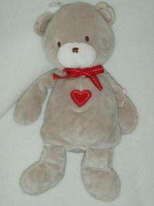 Carters Just One Year Red Heart Plush Teddy Bear