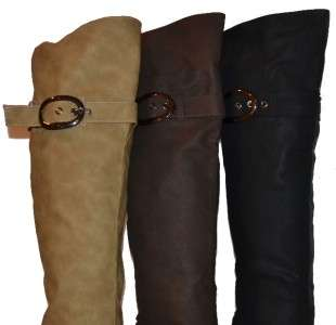 Womens Knee High Boots w/ 3inch heel in BLACK, BEIGE, BROWN, Brand New