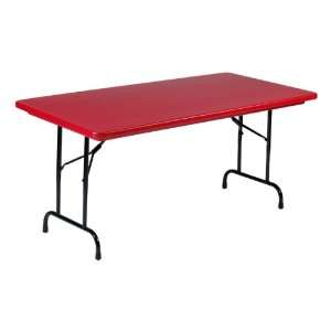 Correll Colorful Blow Molded Plastic Folding Table