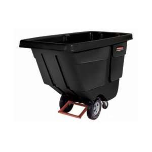 Rubbermaid Light Duty 1 Cu. Yd. Black Tilt Truck
