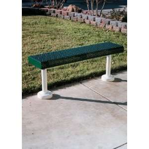 Webcoat Innovated Rolled Style 4Ft. Bench without Back, Small Hole 11