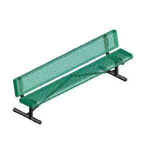 Webcoat Innovated Rolled Style 8Ft. Bench with Back, Small