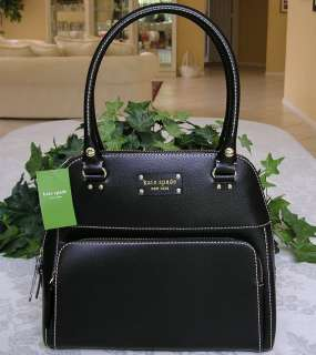 KATE SPADE WELLESLEY LEATHER MAEDA BAG PURSE BLACK NWT