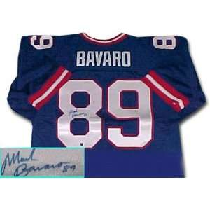 Mark Bavaro New York Giants Autographed Throwback Blue Jersey