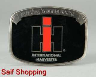 International Harvester IH Farm Tractor Diecast Cowboy Belt Buckle