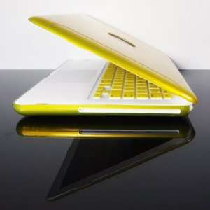 TopCase Metallic Solid Yellow Hard Case Cover for New Macbook White 13