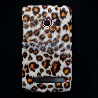 Brown Leopard print faux fur Hard Cover Case Skin for HTC EVO 4G