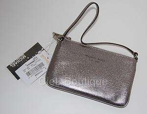 NWT New Authentic MICHAEL KORS Saffiano Leather Wristlet Wallet