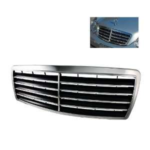 Class W202 95 00 Sport Front Grille 9 rubbers   Chrome Automotive