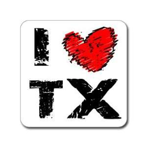 I Love Heart TX   TEXAS   Window Bumper Laptop Sticker