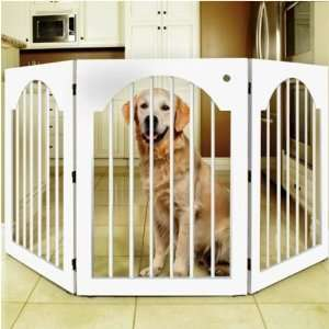 Majestic Pet Free Standing Wood Pet Gate   White