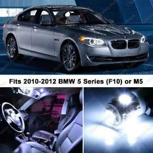 BMW 5 Series White LED Lights Interior Package Kit F10 (14