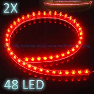 24 PVC LED Bulb Flexible Car Motorbike Light Strip 12V