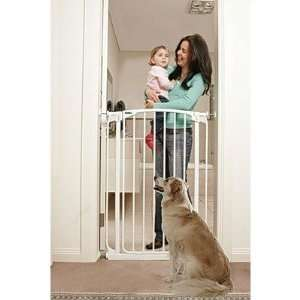 Extra Tall Swing Closed Pet Gate in White