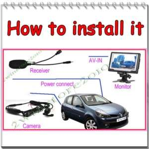 Wireless Car Rear View Reverse Camera CAM Night Vision