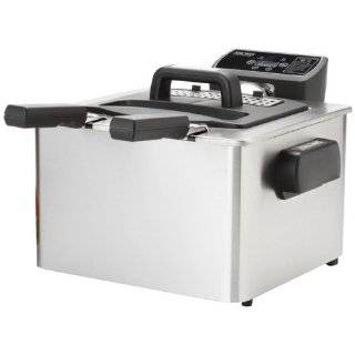 Aroma ADF 232 Smart Fry XL 4 Quart Digital Dual Basket Deep Fryer