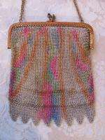 Antique Art Deco Dresden Mesh Purse German 1920s