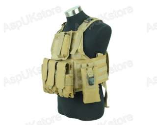 Airsoft tactical Combat USMC MOLLE Assault Vest tan G