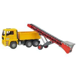 Bruder MAN TGA Construction Truck With Conveyor Belt Toys & Games