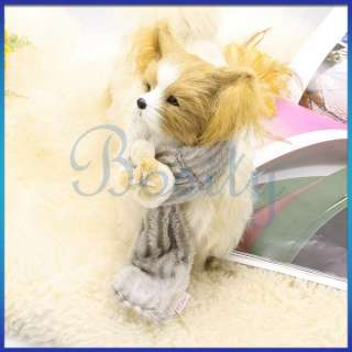 Puppy Pet Dog Winter Scarf Neck Wrap Fuzzy Neckerchief Shawl Fashion w