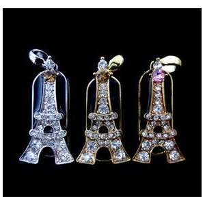 8GB Silver Colored Eiffel Tower Design USB Flash Drive