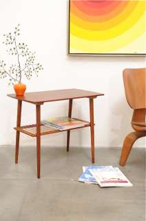 Danish Modern Teak Occasional Shelf Table Mid Century Eames Era