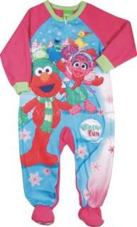 SESAME STREET ELMO ABBY FLEECE BLANKET SLEEPER PJ 2T 4T
