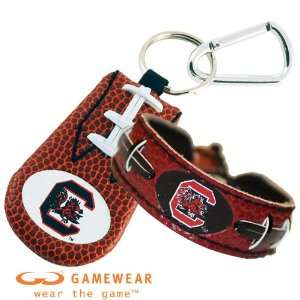 South Carolina Gamecocks Team Color Football Bracelet and South