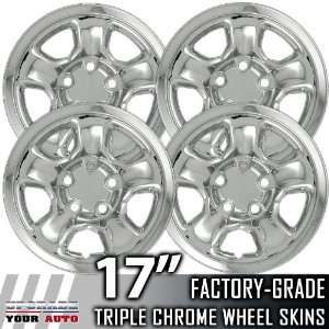 02 03 DODGE RAM 17 Chrome Wheel Skin Covers Automotive