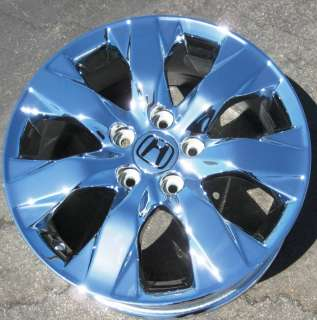 EXCHANGE YOUR STOCK 4 NEW 17 FACTORY HONDA ACCORD OEM CHROME WHEELS