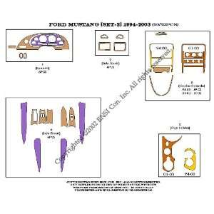Ford Mustang (set 2) Dash Trim Kit 94 00   20 pieces
