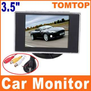 NEW 3.5 TFT LCD Color Screen Car Rearview Monitor DVD VCR