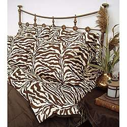 Zebra Brown Safari Twin XL size Sheet Set