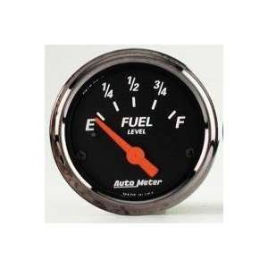 Auto Meter 1418 Black 2 1/16 Fuel Level for GM Pre 65