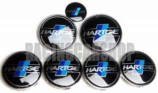 BMW HARTGE WHEEL CENTER CAPS + HOOD TRUNK EMBLEM 7PCS