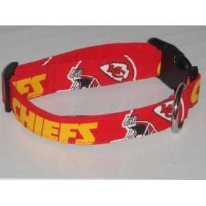 Kansas City Chiefs Football Dog Collar Large 1 Red