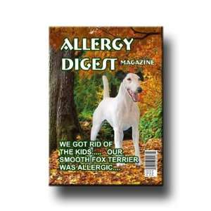 Smooth Fox Terrier Allergy Kids Fridge Magnet Everything