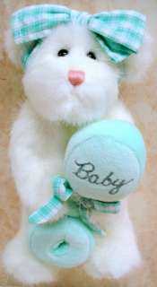 BOYDS BEARS Sweetpea PLUSH Baby RATTLE Infant 903011