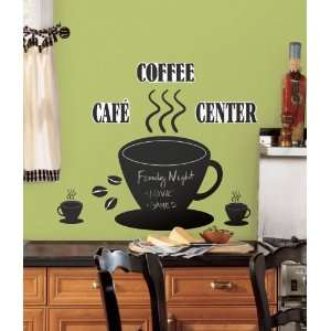 Reusable Decorative Coffee Cup Chalkboard Wall Appliques