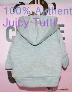 Juicy Couture Gray Fleece Cotton Dog Hoodie Sweater XS
